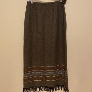 Isabella Bird Wool Long Skirt